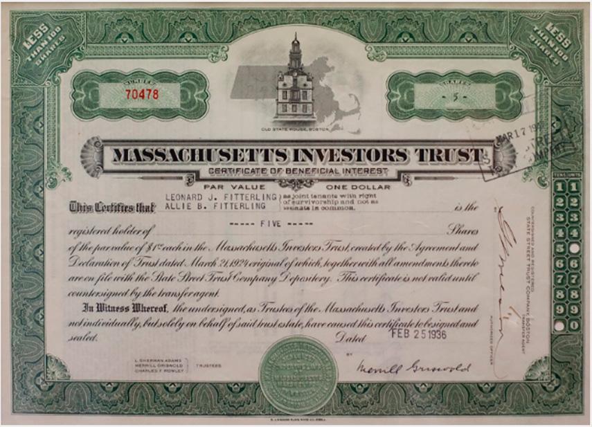 Сертификат взаимного фонда